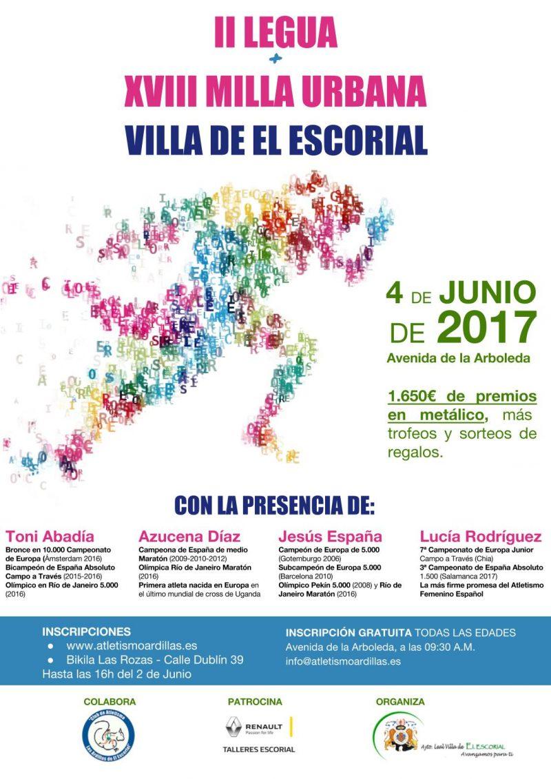 Cartel Milla El Escorial 2017 - Final
