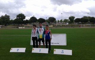 Podio 5000 metros lisos Campeonato de Madrid sub20