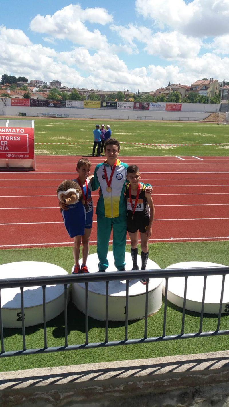 Podio Campeonato Madrid sub 14 3000 metros lisos