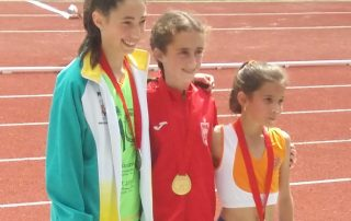 Podio del Campeonato de Madrid sub14 en Pista al Aire Libre