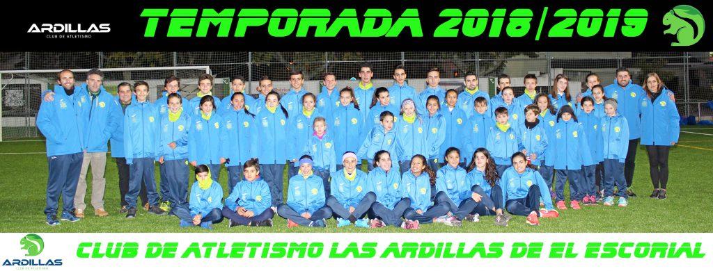 Los atletas de Las Ardillas de El Escorial